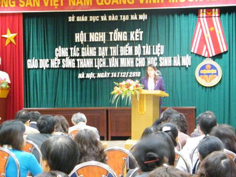 Chuẩn bị dạy ứng xử văn hóa cho học sinh Thủ đô