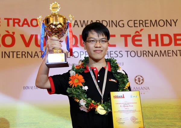 cờ vua quốc tế HDBank 2013: Niềm vui lớn cho Lê Quang Liêm