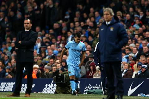 Chấn thương của Aguero là mất mát rất lớn với Man City