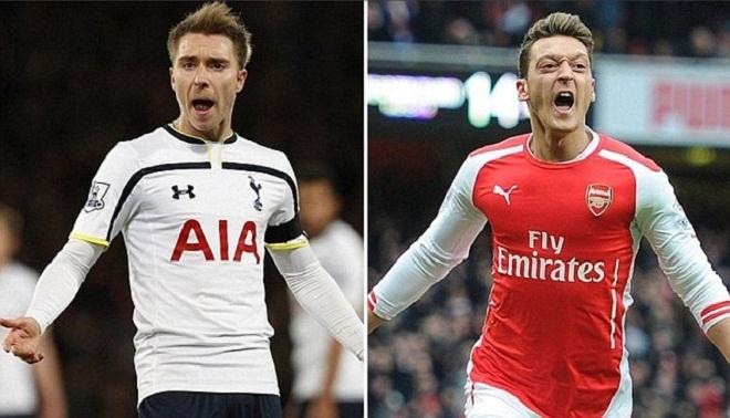 Derby London Tottenham - Arsenal: Christian Eriksen xuất sắc hơn Mesut Oezil?