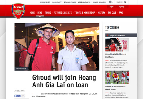 SỐC!!! Arsenal đồng ý cho HAGL mượn Olivier Giroud 1 tháng