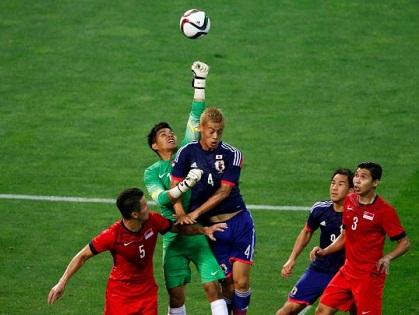Thủ môn Singapore thực hiện 18 pha cứu thua, giữ sạch lưới trước Nhật Bản