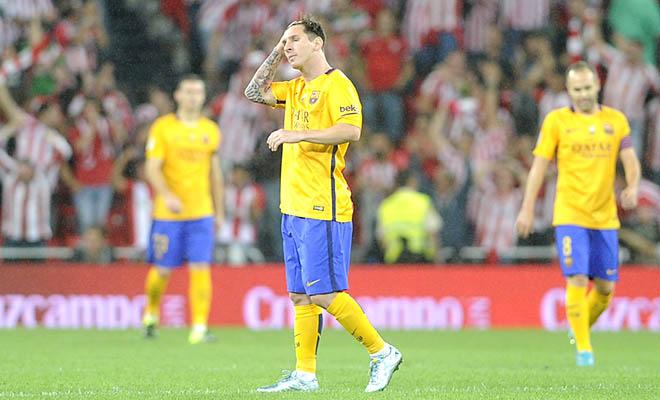 Bilbao - Barcelona 4-0: Nhà vô địch châu Âu mà phòng thủ thế này?