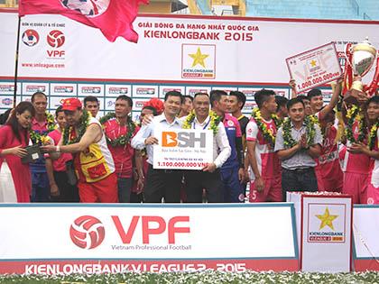 CLB Hà Nội nhận tài trợ 1,1 tỷ đồng