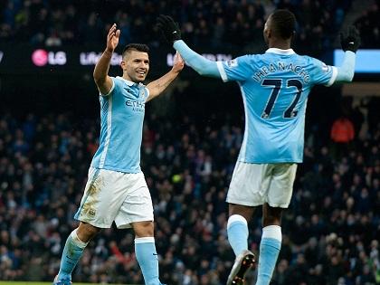 Man City 4-0 Crystal Palace: Aguero lập cú đúp, Man City tạm đứng đầu bảng