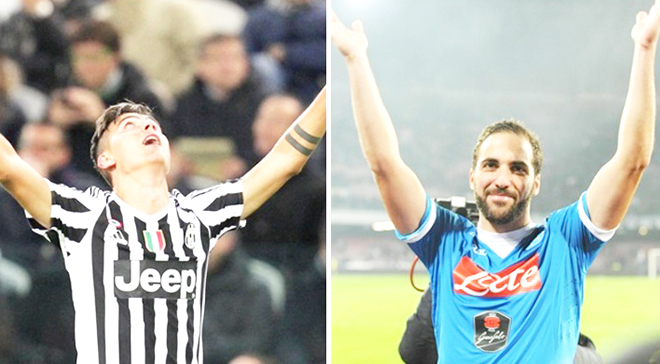 Gonzalo Higuain vs. Paulo Dybala: Bản Tango trên đất Italy