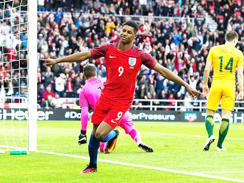 Anh 2-1 Australia: Rashford bừng sáng ngày ra mắt, đầy hy vọng dự EURO 2016