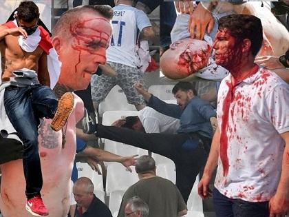 CHÙM ẢNH: Kinh hoàng cảnh CĐV Nga và Anh ẩu đả tại EURO 2016