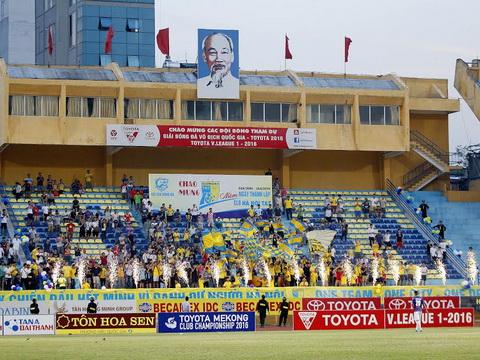 Hà Nội T&T đã có chiến thắng dễ dàng trước HAGL đúng dịp kỷ niệm 10 năm thành lập CLB.Ảnh: V.S.I