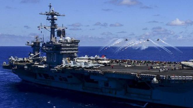 Tàu sân bay Mỹ USS Carl Vinson sắp tập trận với tàu chiến Nhật Bản