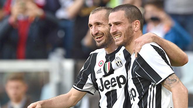 Bonucci và Chiellini phải rất xuất sắc mới giúp Juventus sạch lưới ở Monaco