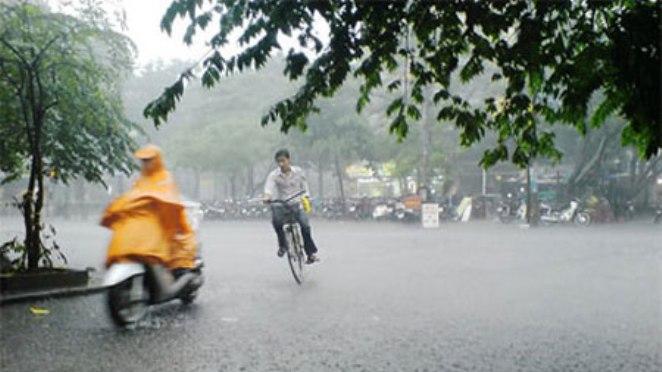 Phía Bắc mưa bất chợt trong ngày, phía Nam mưa to vào chiều tối