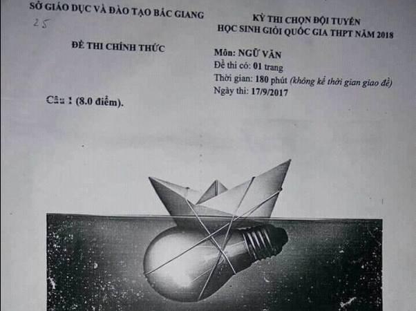 Đề thi học sinh giỏi Văn tỉnh Bắc Giang: Bài văn khó và tư duy 'ăn sẵn'