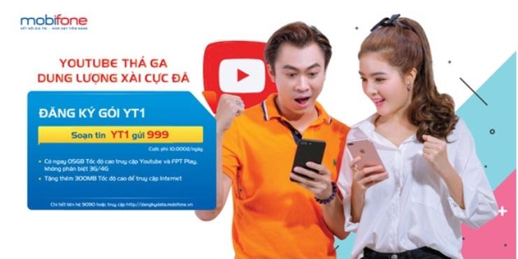 Tổng hợp các gói 3G/4G đặc biệt truy cập Youtube của MobiFone