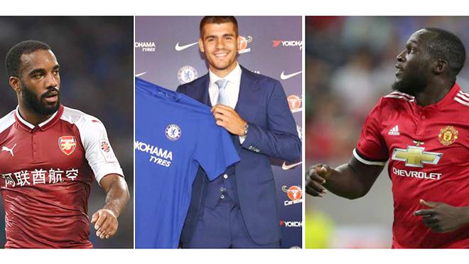 Trung phong ở Premier League: Lukaku, Morata hay Lacazette sẽ bùng nổ?