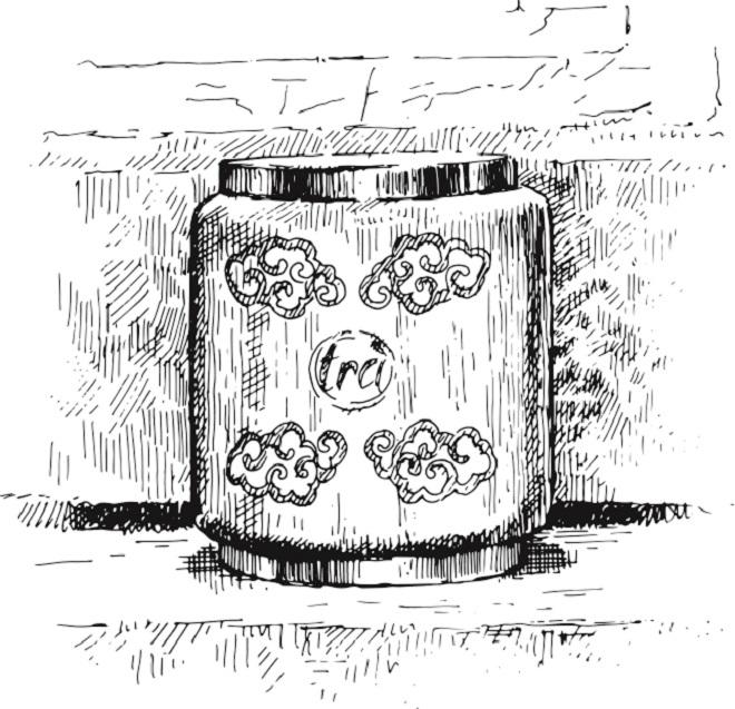 Một mẫu thiết kế về hộp trà trên chất liệu sơn mài