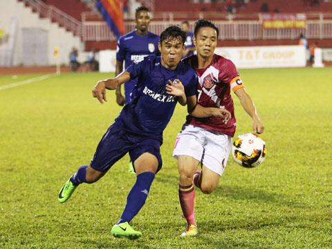 B.Bình Dương và Sài Gòn sẽ tái đấu ở Gò Đậu vào tối 20/6. Ảnh: Quang Liêm