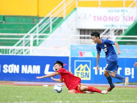 Lần thứ 4 Viettel vấp ngã trước PVF ở những trận đấu loại trực tiếp giải U17 QG. Ảnh: Quang Phương
