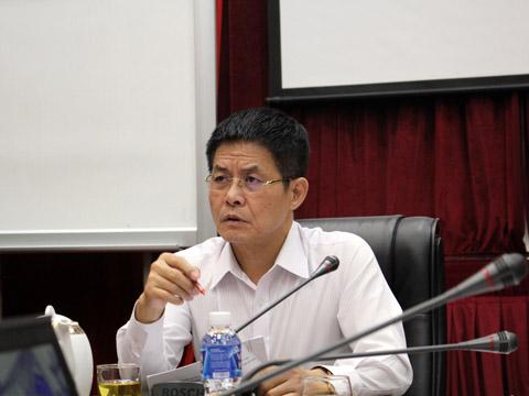 Chủ tịch VTF Nguyễn Quốc Kỳ rất kỳ vọng Đại hội thường niên ITF sắp tới sẽ nâng cao vị thế quần vợt Việt Nam. Ảnh: Quang Liêm
