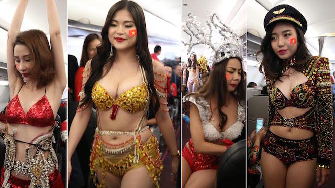 Lại Thanh Hương trần tình chuyện hở bạo ôm vai, bá cổ cầu thủ U23 trên máy bay
