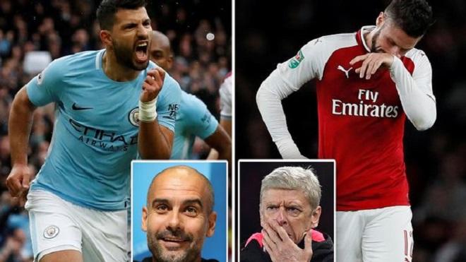 TRỰC TIẾP Man City 2-0 Arsenal: Aguero ghi bàn trên chấm 11m (Hiệp 2)