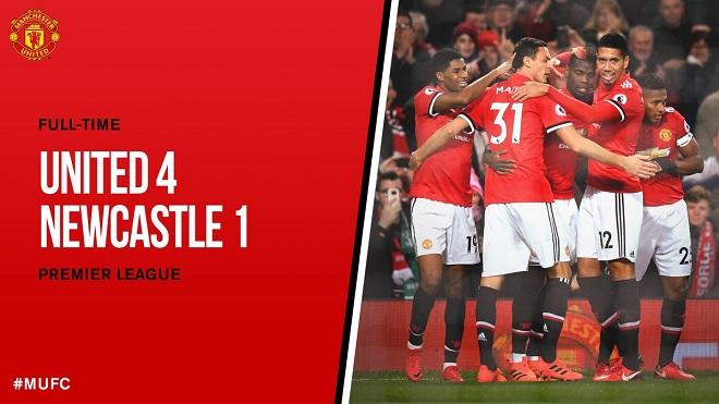 CẬP NHẬT tin sáng 19/11: M.U thắng Newcastle. Ibrahimovic ví mình với sư tử. Man City nhận hung tin