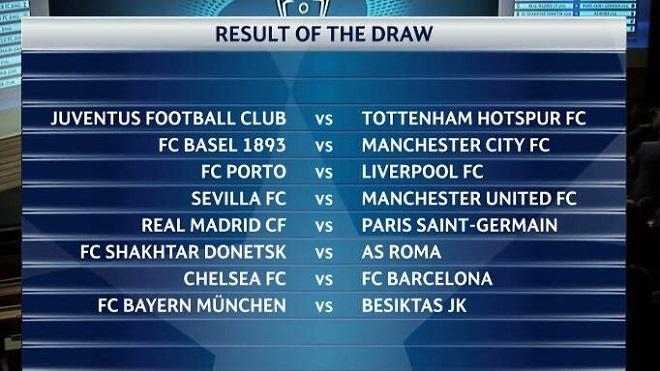 Real gặp PSG và Chelsea đụng Barca là những cặp đấu 'tử thần'
