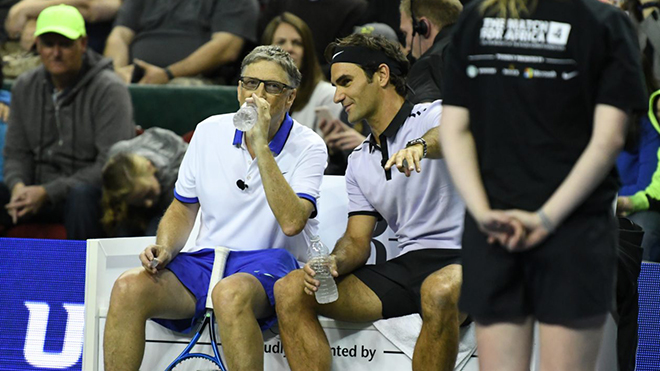 Cuộc trò chuyện lịch sử giữa Roger Federer và Bill Gates