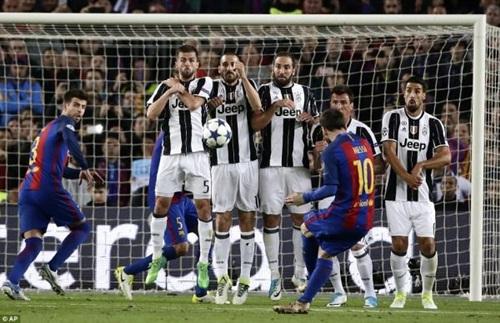Messi đá phạt không thành công