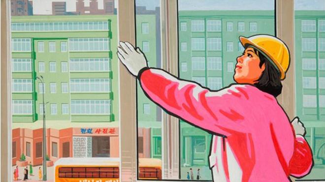Giải mã nhiều điều lạ qua tranh cổ động Triều Tiên