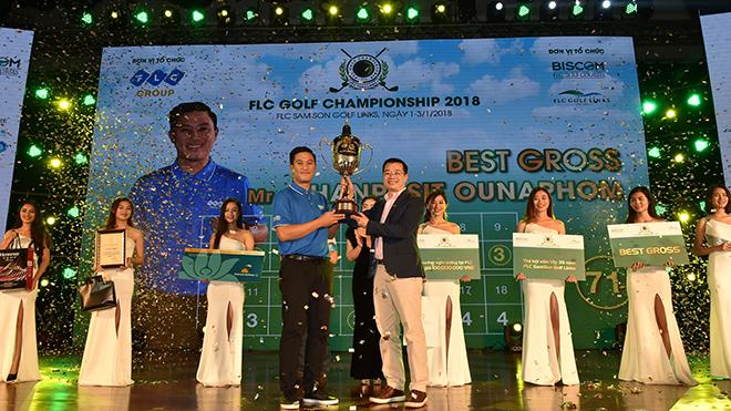 Golfer người Lào Chanpasit Ounaphom vô địch giải FLC Golf Championship 2018