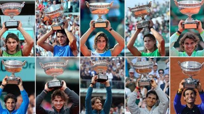 10 sắc thái của Nadal ở 'Decima' Roland Garros