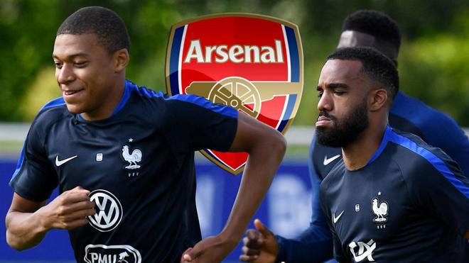 Sắp có Lacazette, Arsenal vẫn thèm muốn Mbappe