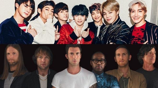 Maroon 5 úp mở cú 'bắt tay' với BTS, fan cực kỳ phấn khích