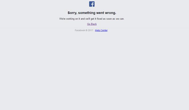 Mạng xã hội Facebook bị sập mạng toàn cầu, không truy cập được