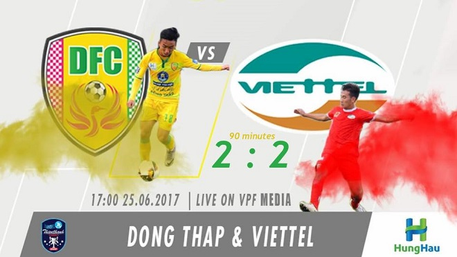 Viettel suýt thua Đồng Tháp trong trận 'thủy chiến'