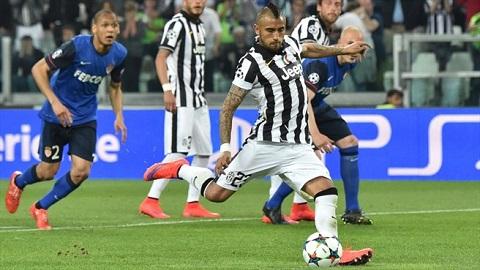 Vidal ghi bàn thắng duy nhất giúp Juventus vượt qua Monaco ở tứ kết Champions League 2014/15
