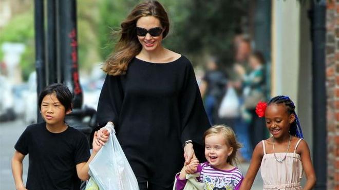 Kết quả hình ảnh cho Angelina Jolie va con