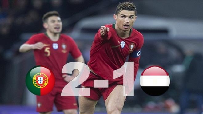 Ronaldo lập cú đúp phút bù giờ, Bồ Đào Nha ngược dòng thắng  Ai Cập 2-1