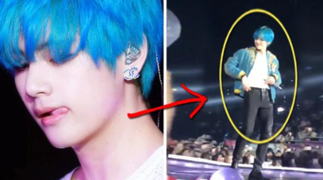 V không ngừng 'tấn công' ARMY tại màn diễn của BTS ở Hong Kong