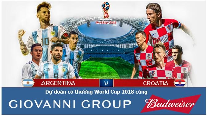 dự đo 225 n c 243 thưởng world cup 2018 trận argentina croatia