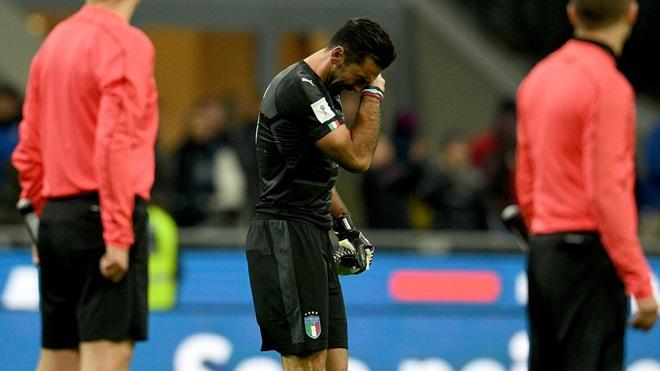 Italy 0-0 (chung cuộc: 0-1) Thụy Điển: Azzurri vắng mặt ở World Cup lần đầu sau 60 năm