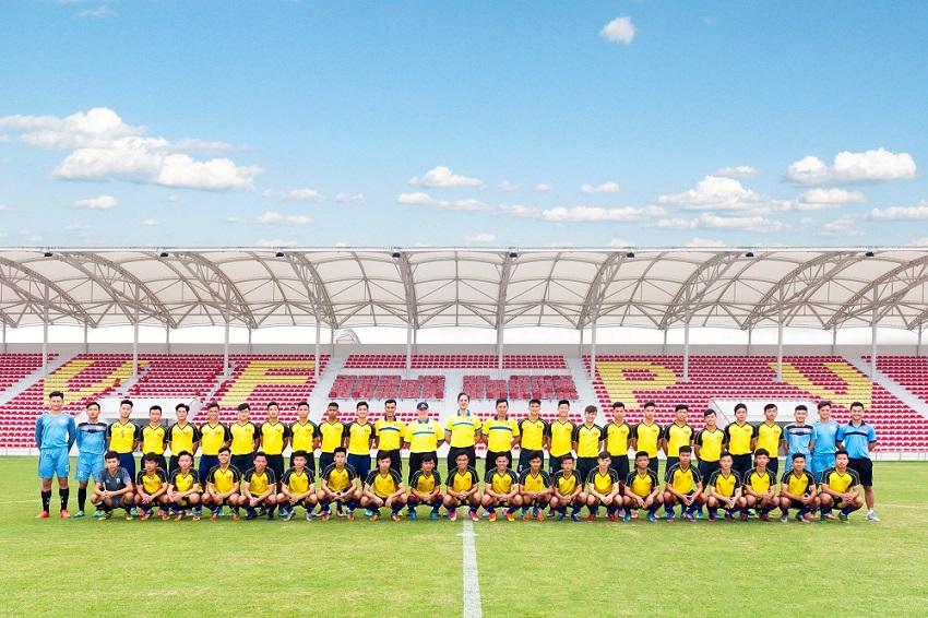 Đội hình của chủ nhà U15 PVF sẽ tham dự giải giao hữu U15 quốc tế do PVF tổ chức nhân dịp khai trương cơ sở mới tại Hưng Yên