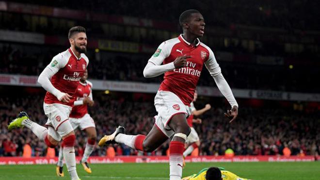 Eddie Nketiah, người hùng tuổi teen của Arsenal, là ai?