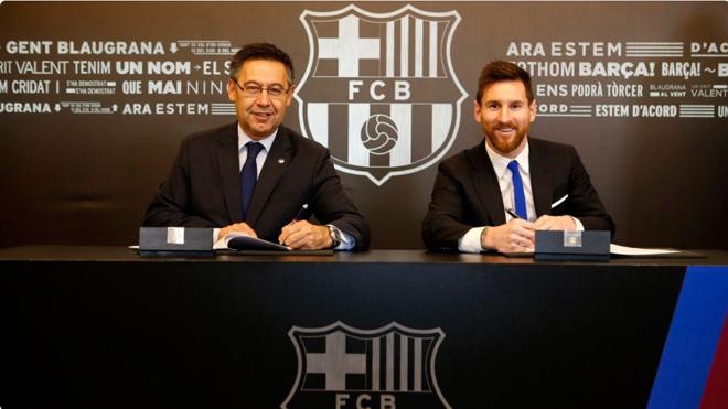 Messi gia hạn hợp đồng 4 năm với Barca, điều khoản giải phóng cao... khủng khiếp