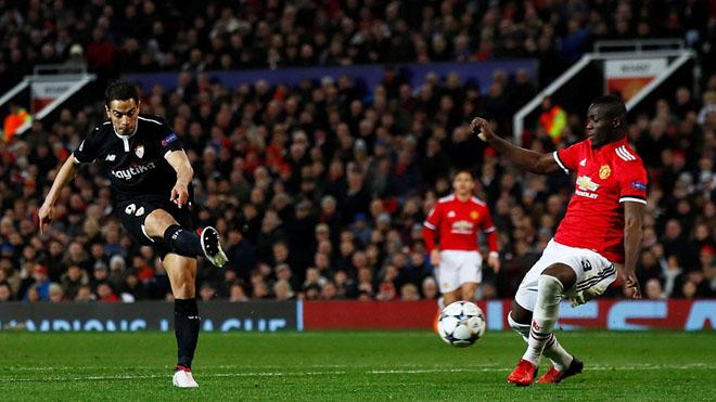 Video clip bàn thắng M.U 1-2 Sevilla: Yedder khiến Old Trafford câm lặng